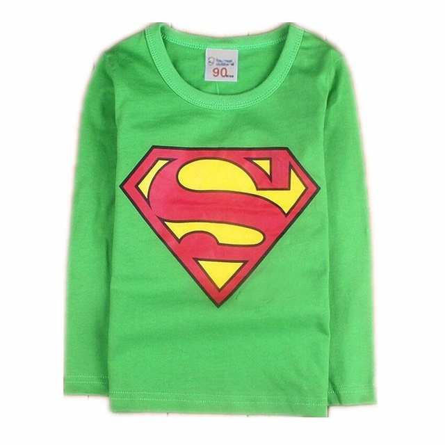 61d41c94a Online Shop Children Kids Clothing Tees Cool Superman Baby Boys T ...