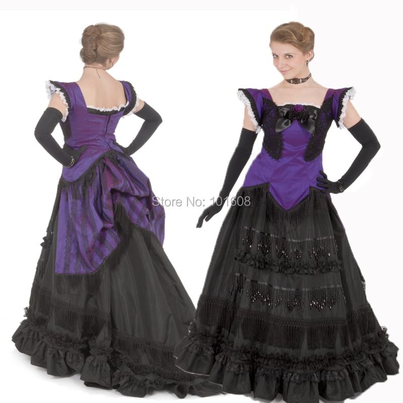 Customer to order!19 century Purple Vintage costume Victorian dresses Marie Antoinette dresses Renaissance dress HL-131