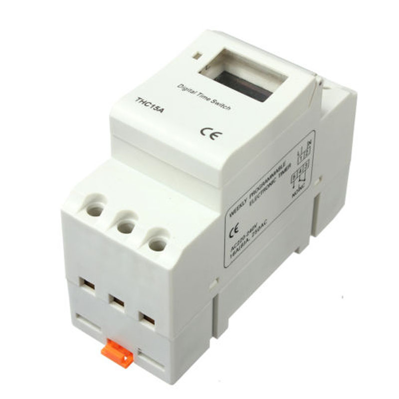 DIN Rail Digital LCD Power Programmable Timer AC 220V 16A Time Relay Switch