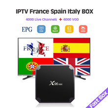 IPTV France français Italia italie abonnement 3/6/12 mois Iptv M3U adulte Latin Smart World Tv pour x96mini Htv 5 Android TV Box(China)
