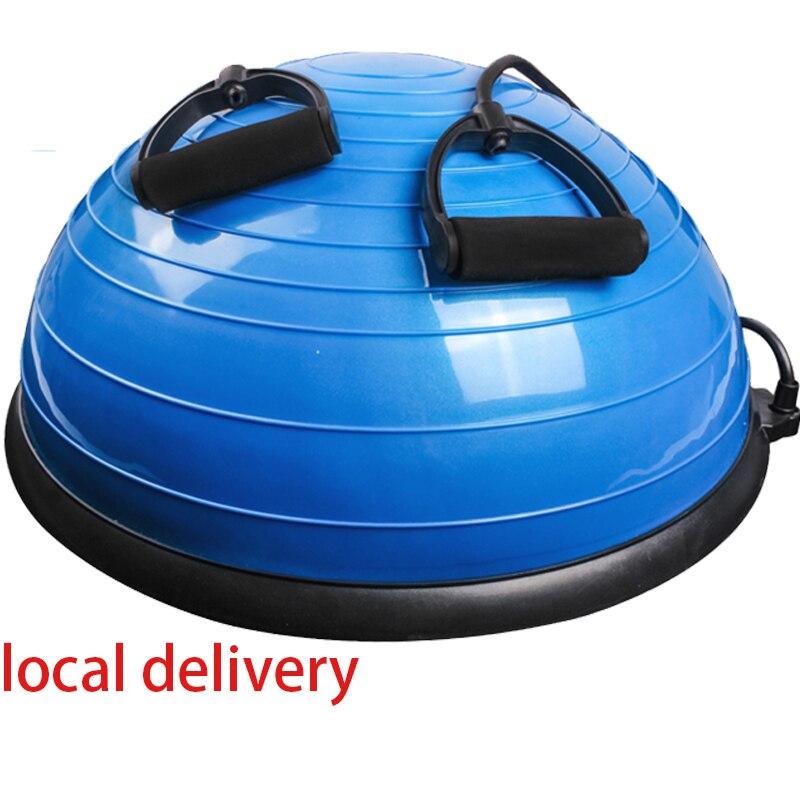 Demi-Yoga balle d'équilibre Gym entraînement balle Pilates demi Yoga balle exercices entraînement Fitball avec cordes et pompe - 6