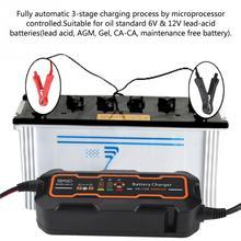Автоматическая Смарт Батарея Зарядное устройство 6 В/12 В 5A для автомобиля грузовик мотоцикла лодка AGM гель
