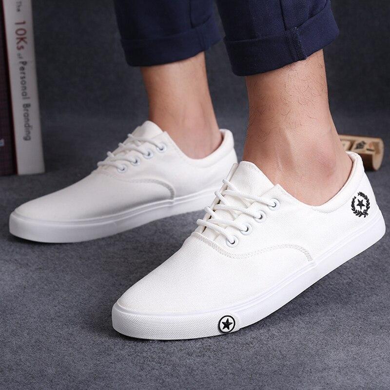 New Men's Flat Canvas Shoes Breathable