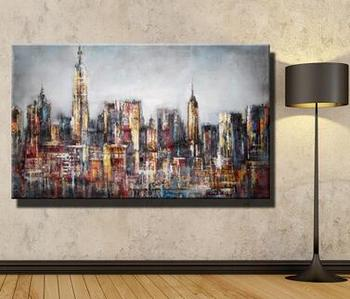 Pure hand painting and landscape painting, landscape painting, hotel villa, lobby, decorative painting фото