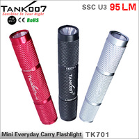PC Tank007 TK701 SSC LED 1 Mode 90 LM Waterproof Hand Mini Camping HIking Torch By