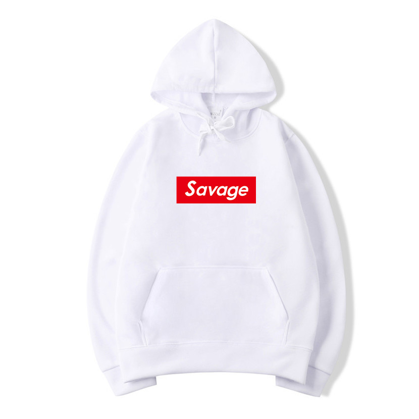 2019 New Mens Hoodies Savage Hoodies Parody No Heart X Savage Mode Slaughter Gang ATL Cotton Long Sleeved Hoodies Suprem