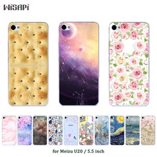 For Meizu U20 Case Silicone Cover Fashion Printed Soft TPU C