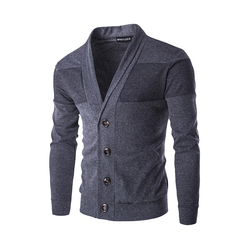 Casual Men's Cardigan Spring Autumn Mens Thin Knitted Jackets Coats Male Single-breasted Long Sleeve Slim Sweater Coat Tops