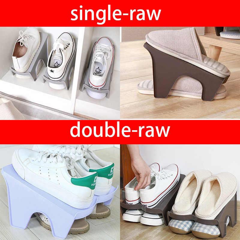 2-Raw Shoe Racks Modern Cleaning Shoe Organizers Double Shoes Rack Living Room Convenient Shoebox Shoes Organizer Stand Shelf