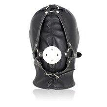 Регулируемая 96 мяч эротическая маска с кляпом PU кожа жгут БДСМ бондаж кляп гей маска взрослый секс SM Мужчины Женщины вечерние сексуальные маски