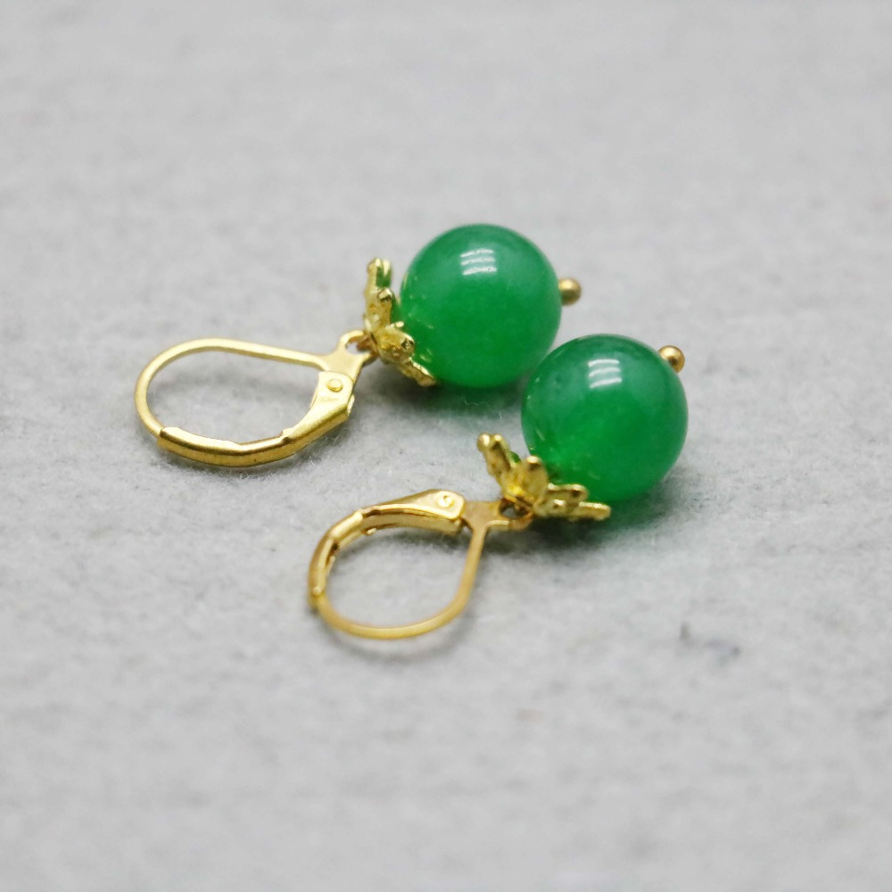 serpentine stones earrings pin natural and stone