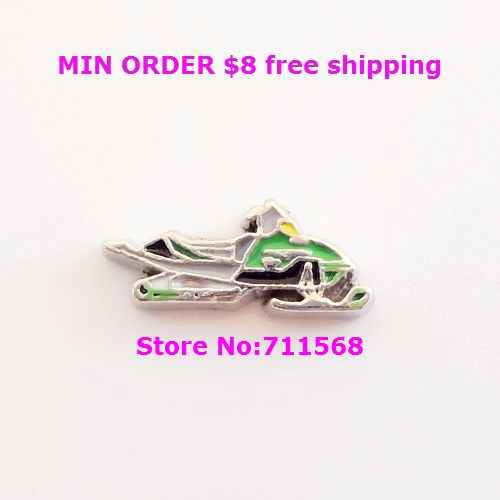 Snow Mobile Floating Charm Skidoo Vehicle Locket Charm For Living Floating Locket