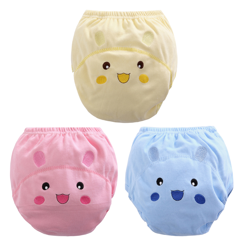 Diaper-Cover Nappies Training-Pants Baby-Cloth Washable Cotton Cute 1pcs