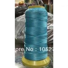 200 м очаровательные бирюзовые синие Бусины шелковый шнур нитка ожерелье ювелирные изделия 0,5 мм Новое поступление