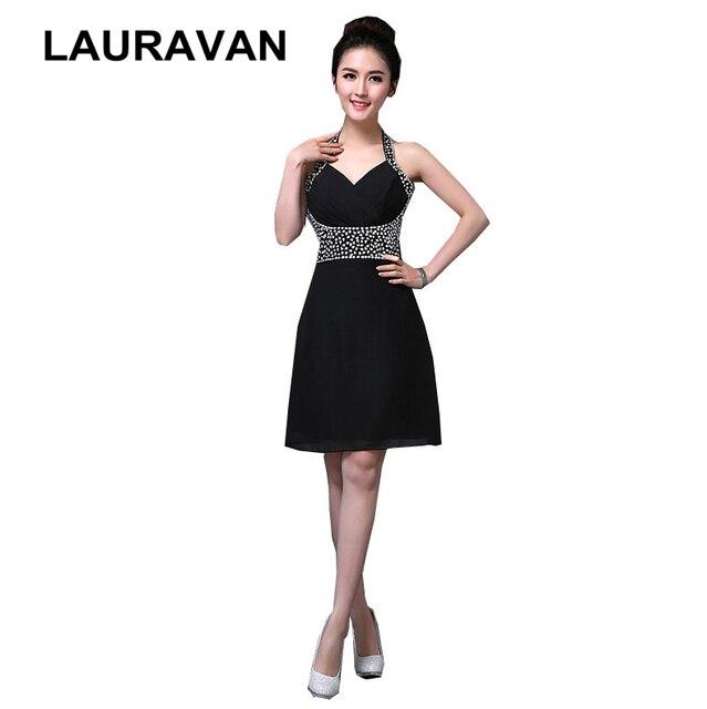 Special Occasion Grecian Classy Short Halter Black Dress Dresses