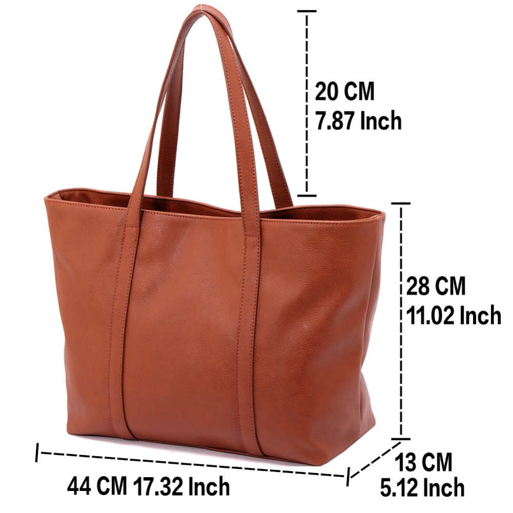 2017 Fashion Designer Women Pu Leather Large Capacity Tote Ping Bag Las Handbag With Long Handles Shoulder Bags In From Luggage