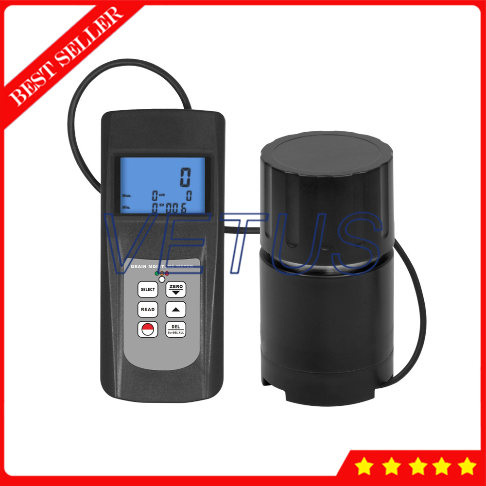 MC 7828G 36 Kinds Digital Grain Seed Moisture Meter Rice Coffee Wheat 0 to 50 Range