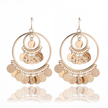Alloy sequins popular exaggerated Earrings Bohemian national fashion personality earpendant jewelry for the women earrings