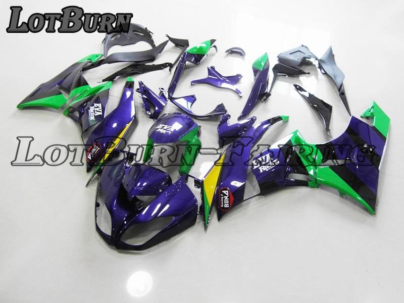 Высокое качество АБС пластик подходит для Kawasaki ZX6R 636 ZX 6R 2009 2012 09 12 мото на заказ мотоцикл обтекатель комплект 001