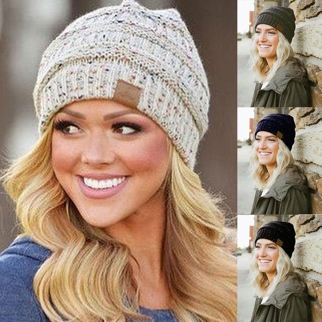 8fdbf6ecab3 2018 Winter Caps Hats For Women Girl Hat Protect Ear Cute Crochet Braided  Knit Beanies Hat Warm Female Unisex Cotton Cap Hat Hot