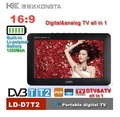 "7""high resolution led screen video and audio player with TF/USB port support digital/analog tv signal MP4 MP3 player"