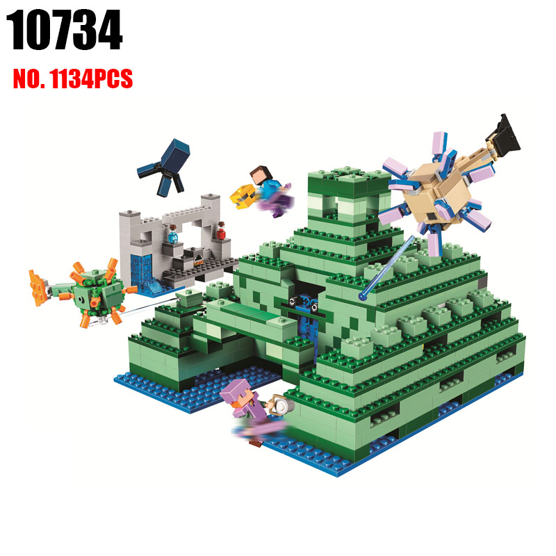 BELA 10734 Monumented Building Blocks Sets Bricks My worlds Movie Model Kids Minecrafted Toys For Children Compatible 21136