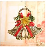 Рождество украшения Рождество дерева кулон золотой колокольчики дерево кулон венок аксессуары кулон