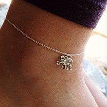 Fashion Elephant charm ankle bracelet For women anklet vintage Silver color leg bracelet foot chain jewelry