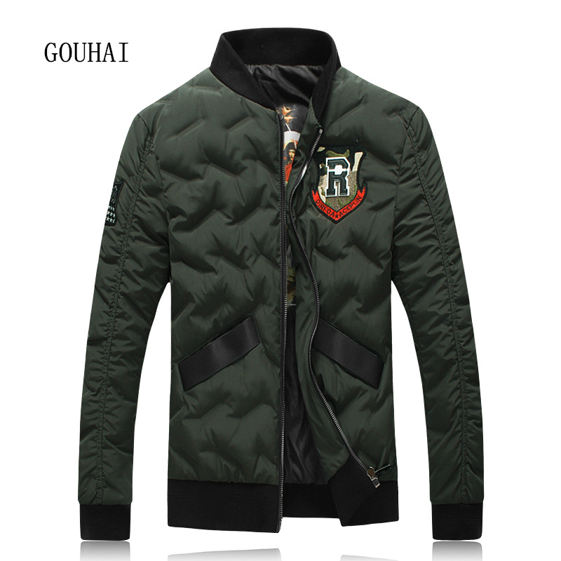Casual Winter Jacket Mens White Duck Down Jacket Men's Down Jacket 4XL 5XL Short Light Down Men Feather Jacket Male Parka Homme letter print zip front casual mens down jacket