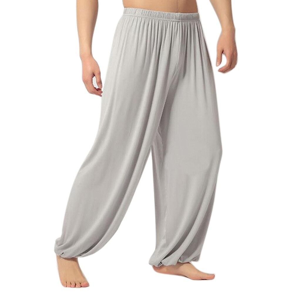 yoga pants Loose Modal bloomers tai chi men women-Light Grey,L modal analysis