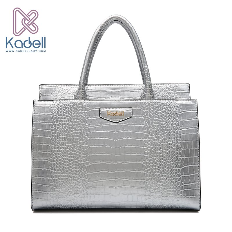 Kadell New Luxury Crocodile Pattern PU Leather Ladies Handbags Large Shoulder Bag Famous Brands High Quality Tote Bags For Women hongu high grade leather handbags crocodile pattern large ladies hand bags luxury purse with shoulder strap sac a main femme