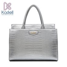 Kadell New Luxury Crocodile Pattern PU Leather Ladies Handbags Large Shoulder Bag Famous Brands High Quality Tote Bags For Women