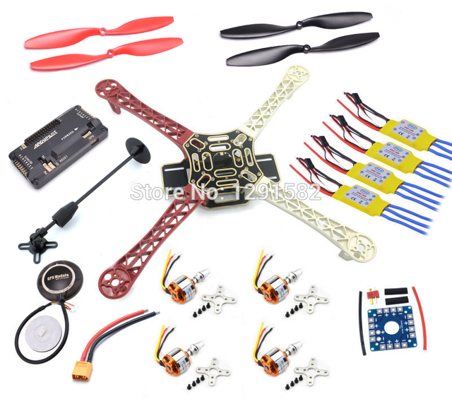 F450 Quadcopter Kit Frame APM2.8 flight controller board 7M / M8N GPS with compass 2212 1000KV motor 30A ESC 1045 prop