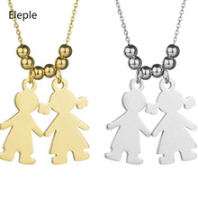 Eleple Boy Girl Unique Fine Necklaces for Womens Simple Stainless Steel Clavicular Chain Jewelry Factory Delivery S-KN02