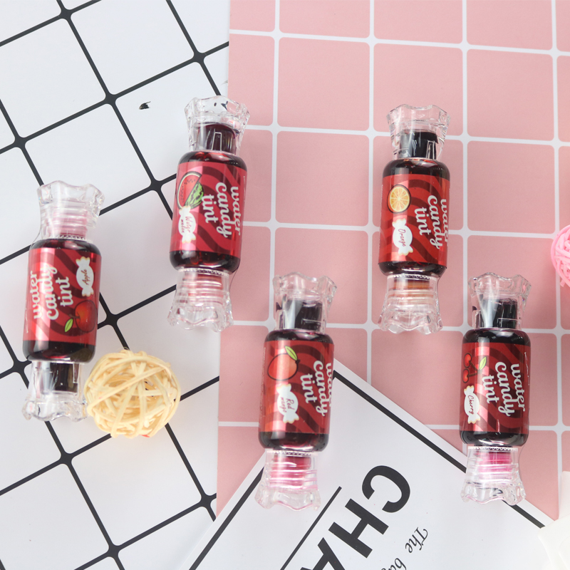 K.A.N Brand 5 Color Long Lasting Lipgloss Waterproof Candy Dyeing Lip Tint  Lovely With Sweetly Flavour Liquid Lip Stick