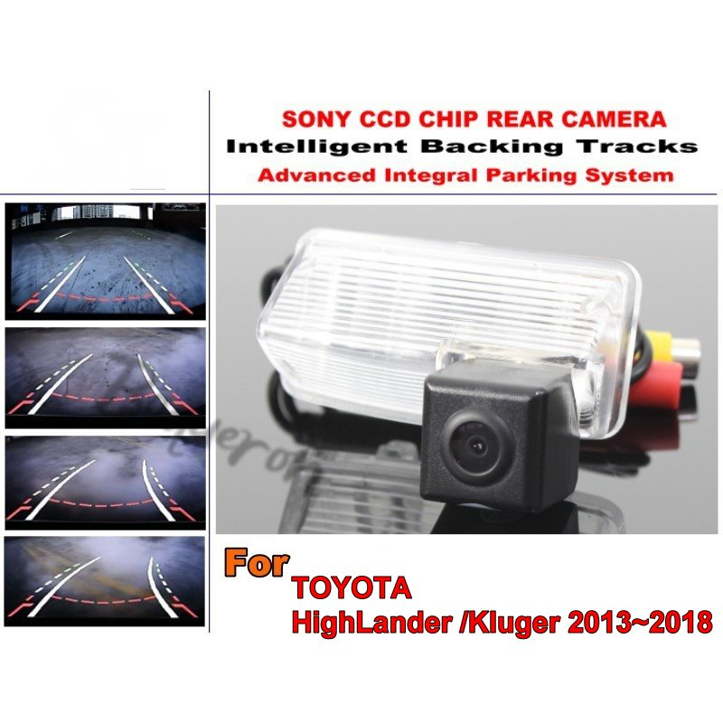 Pour TOYOTA HighLander MK3/Kluger XU50 2013 ~ 2018 pistes intelligentes puce caméra HD CCD intelligente dynamique caméra de recul