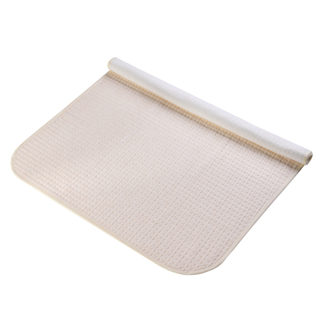 Baby Changing Mat Cotton 4 Layers Waterproof Infant Reusable Diaper Changing Pad Cover Travel & Home Crib Portable Change Cover