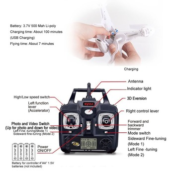 SYMA X5C (Upgrade Version) RC Drone 6-Axis Remote Control Helicopter Quadcopter With 2MP HD Camera 8