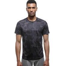UABRAV Summer Loose Mens Short Sleeve Running Shirt with Camouflage Pattern Training Gym Wear Crossfit Fitness Sport Jersey