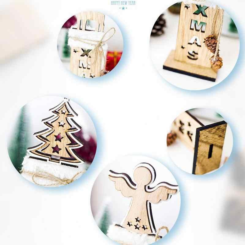 Милый стиль рождественские украшения инновационные настольные украшения с сосной кулон конус деревянный стол наружное декорирование
