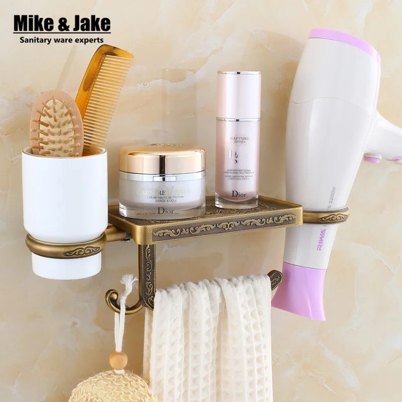 Antique bathroom paper phone holder with blower shelf bathroom Mobile phones towel rack toilet paper holder tissue boxes shelf bathroom oil rubbed bronze paper holders rack antique orb toilet paper holder shelf black retro kitchen tissue paper holder