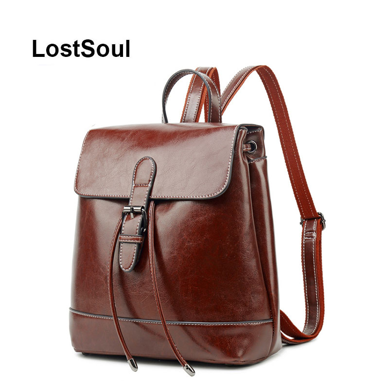 Sac à dos Vintage femme marque cuir sac à dos femme grand sac d'école pour fille loisirs sac à bandoulière style preppy sac mochila