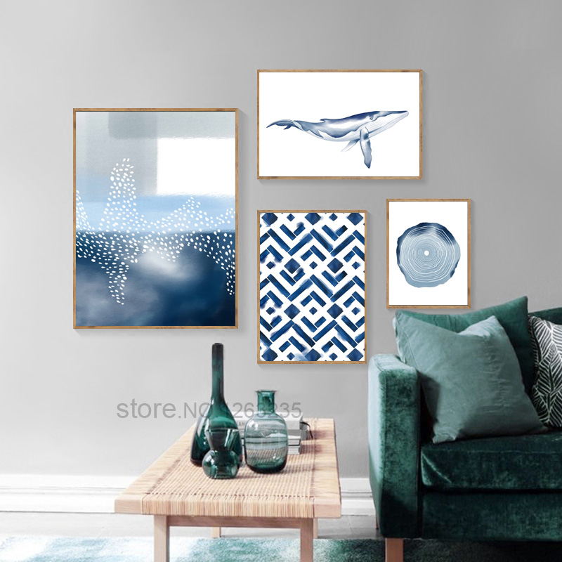 Abstract Geometry Nordic Poster Cuadros Decoracion Wall Pictures For Living Room Watercolor Wall Art Canvas Painting Unframed