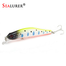 SEALURER Boxed  Fishing lures Sinking Minnow   High Quality Tackle  100mm  11.7g  Wobblers Crankbait  with 6#  Hooks 3D Eyes