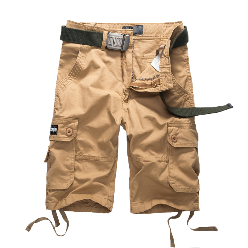 2018 new arrivals Men cargo shorts straight loose cotton Casual Shorts man short trousers bottoms Cargo Camo Male Shorts NO belt