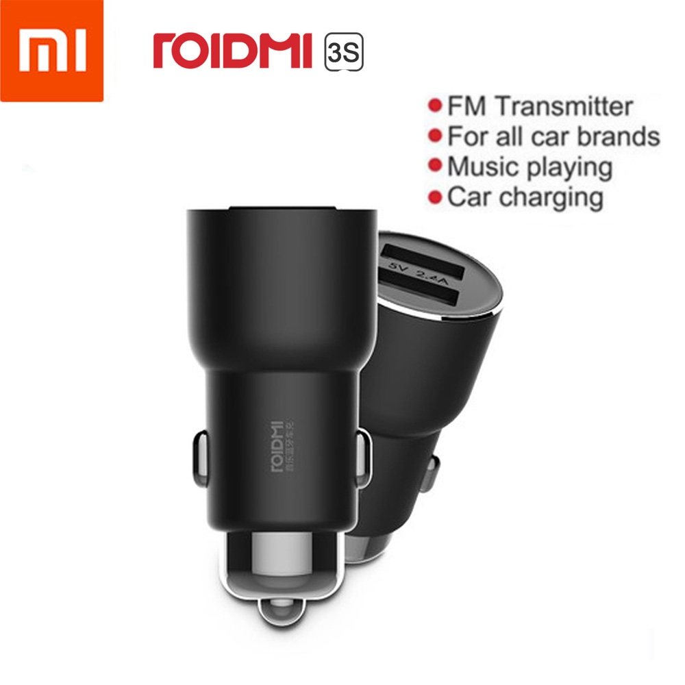 Xiaomi ROIDMI 3S Bluetooth Car Charger Smart APP For iPhone And Android Control USB Music Player Wireless Dual USB Charger image