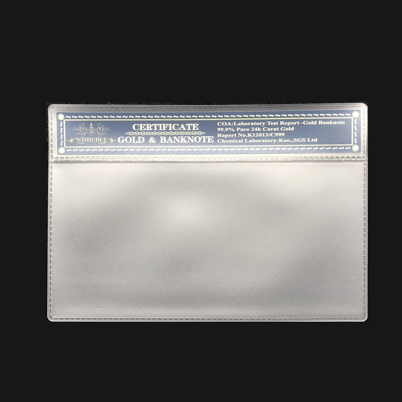 High Quality Products Empty New Nice Plastic COA Frame Witch Is Used For Gold Banknote