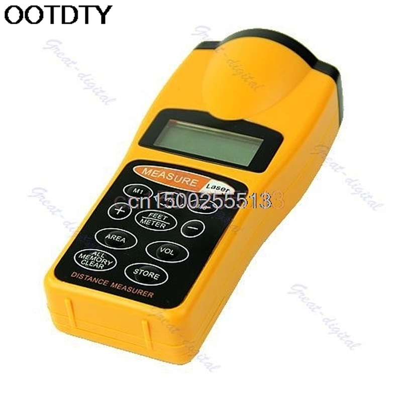 LCD Ultrasonic Laser Pointer Distance Measure Range Finder Device 18M 60FT|Laser Rangefinders| |  - title=