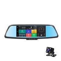 7 Inch Professional Dual Lens Car DVR 3G Rearview Mirror Recorder Camera Full HD 1080P Dash