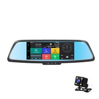 7 Inch Professional Dual Lens Car DVR 3G Rearview Mirror Recorder Camera Full HD 1080P Dash Cam for Android 5.0